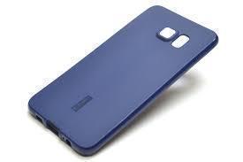 Купить Чехол-накладка Cherry для Samsung Galaxy S6 Edge Plus силиконовый матовый (синий)