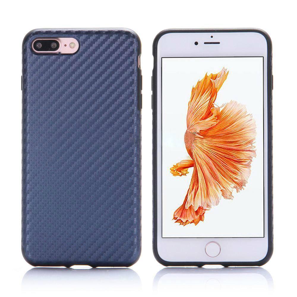 Купить со скидкой Чехол-накладка Rock Origin Series Textured для Apple iPhone 7 Plus/8 Plus резина-карбон Blue