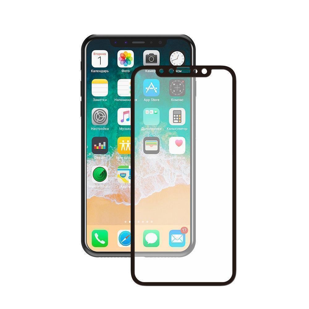 Купить Защитное стекло Tempered Glass (9D) для Apple iPhone Xr цветное черная рамка