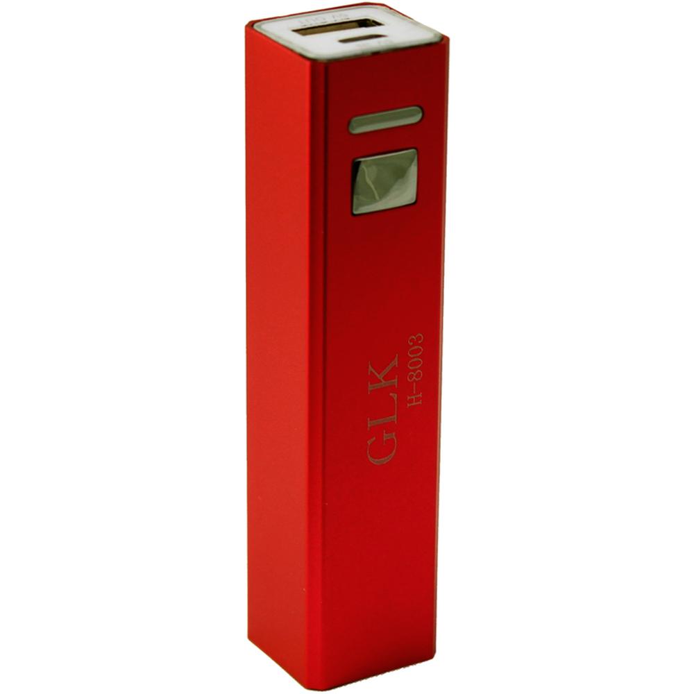 Универсальный внешний аккумулятор Power Bank GLK H-8003 1200 mAh, 1 А, USBx1 металл красныйУниверсальные внешние аккумуляторы<br>Универсальный внешний аккумулятор Power Bank GLK H-8003 1200 mAh, 1 А, USBx1 металл красный<br>