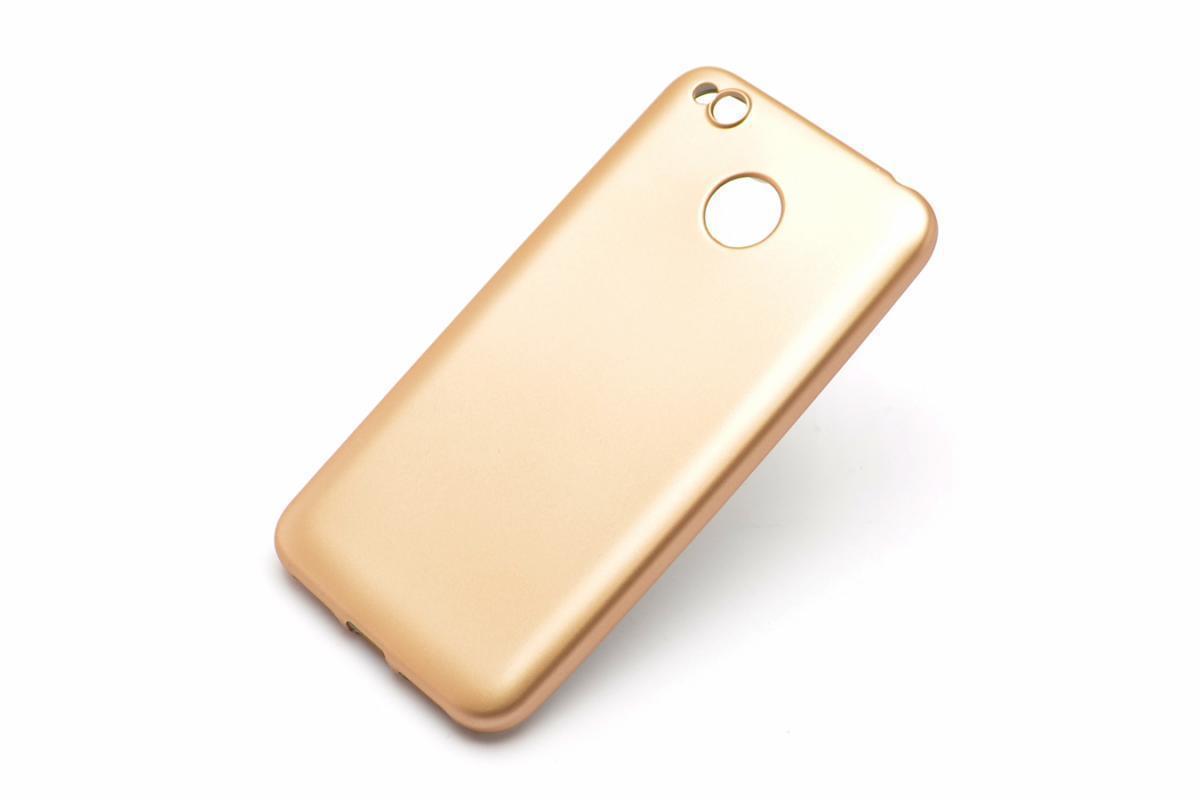 Чехол-накладка j-case 0.5mm THIN для Xiaomi Redmi 4X силикон (золотой) фото