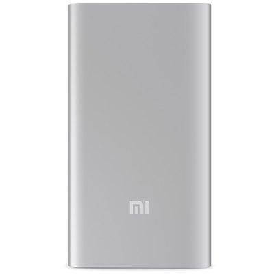 Купить со скидкой Универсальный внешний аккумулятор Xiaomi Mi Slim Power Bank 5000 mAh, 2.1 А, USBx1 металл Silver
