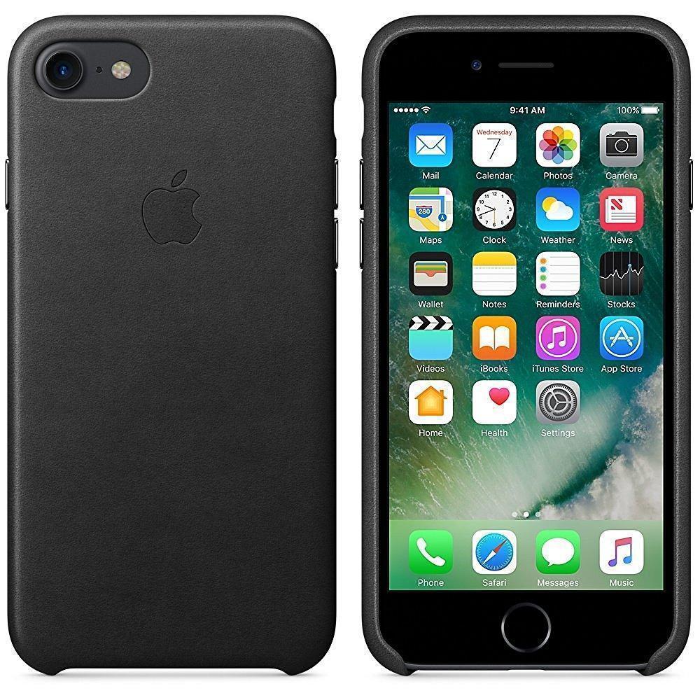 Чехол-накладка Apple Leather Case для iPhone 7/8 натуральная кожа Black (MMY52ZM/A)для iPhone 7/8<br>Чехол-накладка Apple Leather Case для iPhone 7/8 натуральная кожа Black (MMY52ZM/A)<br>