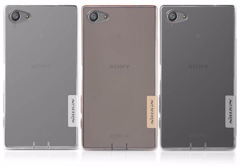 Чехол-накладка Nillkin Nature для Sony Xperia Z5 Compact силиконовый прозрачныйдля Sony<br>Чехол-накладка Nillkin Nature для Sony Xperia Z5 Compact силиконовый прозрачный<br>