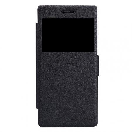 Чехол-книжка Nillkin Fresh Series Leather Case для Lenovo Vibe X2 искусственная кожа (черный)
