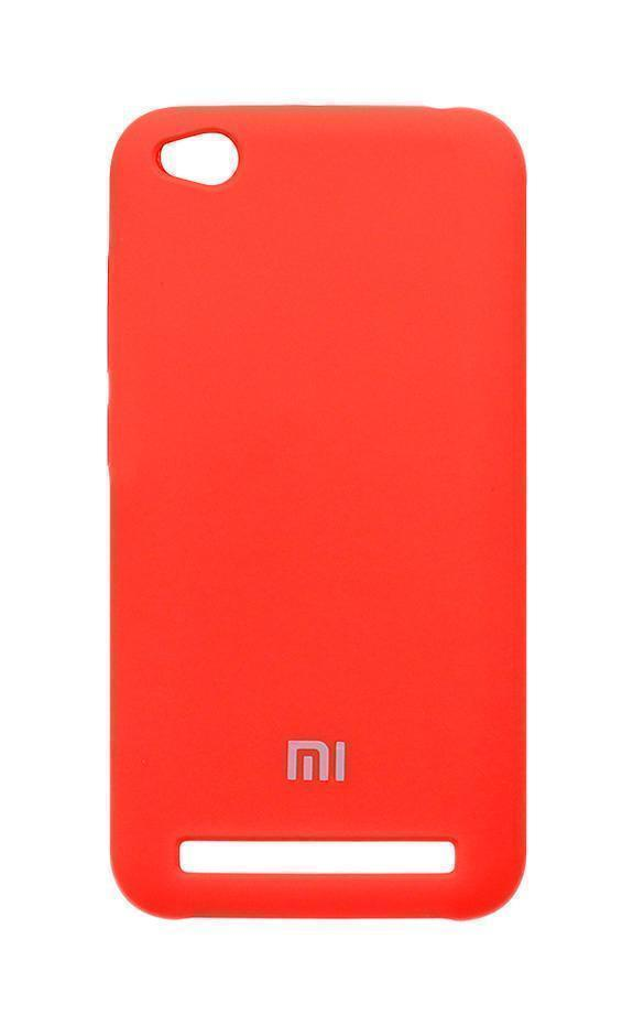 Купить Чехол-накладка Silicone Cover для Xiaomi Redmi 5A силиконовый (красный)