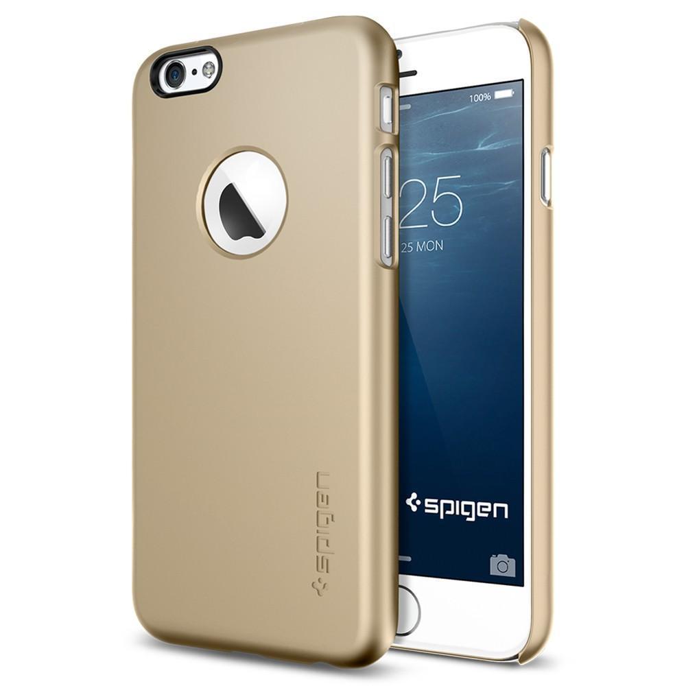 Чехол-накладка Spigen Thin Fit A для Apple iPhone 6/6S пластиковый Champagne Gold (SGP10943)для iPhone 6/6S<br>Чехол-накладка Spigen Thin Fit A для Apple iPhone 6/6S пластиковый Champagne Gold (SGP10943)<br>
