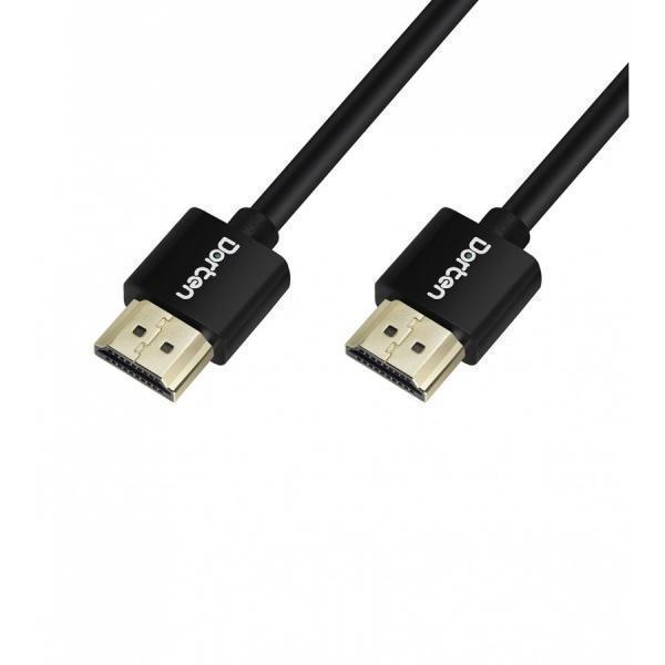 Кабель Dorten (HDMI) на (HDMI) 2м черный (Поддерживает 3D-видео в разрешении Full HD 1080)