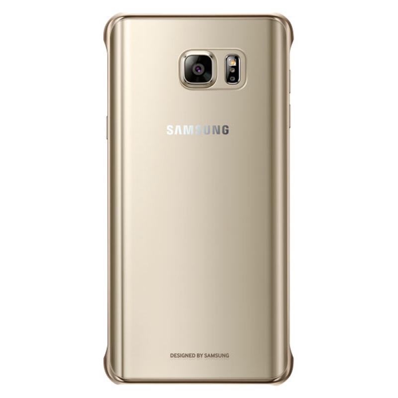 Чехол-накладка Samsung Clear Cover для Galaxy Note 5 (EF-QN920CFEGRU) пластик прозрачно-золотойдля Samsung<br>Чехол-накладка Samsung Clear Cover для Galaxy Note 5 (EF-QN920CFEGRU) пластик прозрачно-золотой<br>