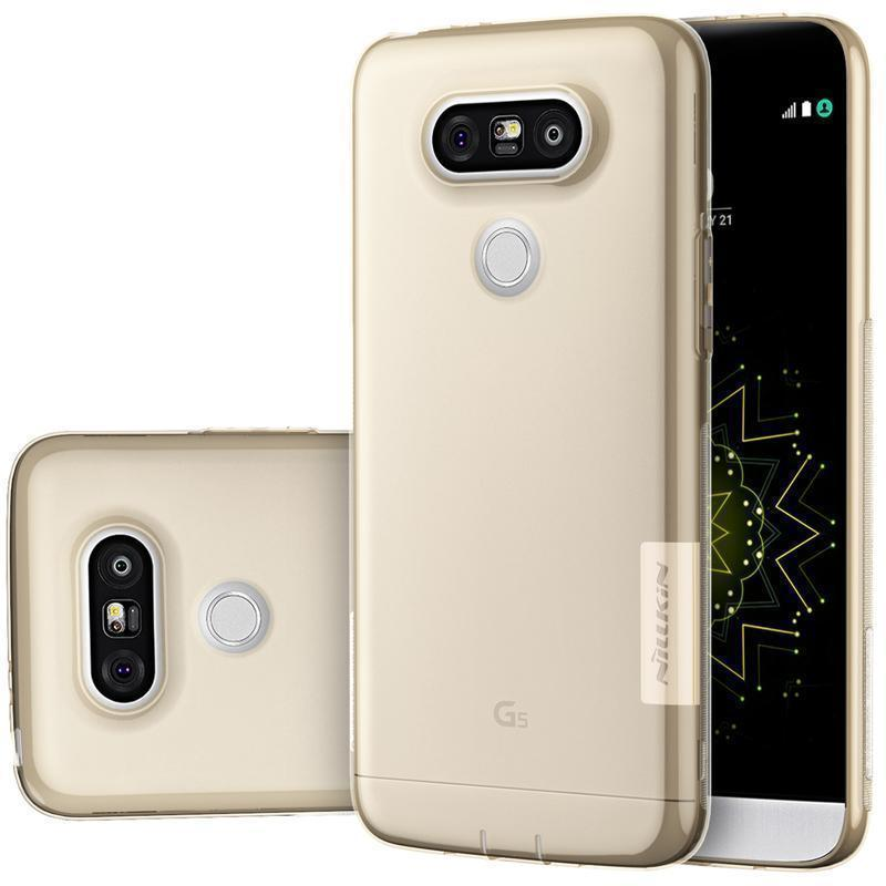 Чехол-накладка Nillkin Nature 0.6mm для LG G5 / G5 SE H845/H850/H860N силиконовый прозрачно-золотойдля LG<br>Чехол-накладка Nillkin Nature 0.6mm для LG G5 / G5 SE H845/H850/H860N силиконовый прозрачно-золотой<br>