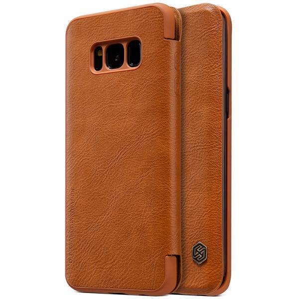 Чехол-книжка Nillkin QIN Leather Case для Samsung Galaxy S8+ (SM-G955) натуральная кожа (Brown)для Samsung<br>Чехол-книжка Nillkin QIN Leather Case для Samsung Galaxy S8+ (SM-G955) натуральная кожа (Brown)<br>