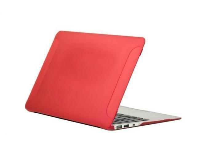 Чехол-накладка BTA-Workshop для Apple MacBook Air 13 матовая прозрачно-краснаядля Apple MacBook Air 13<br>Чехол-накладка BTA-Workshop для Apple MacBook Air 13 матовая прозрачно-красная<br>