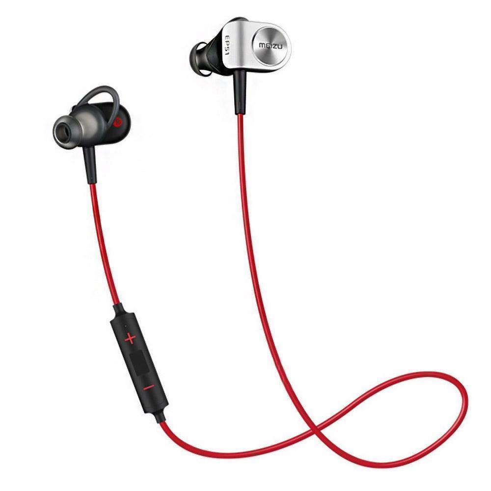 Беспроводные Bluetooth cтерео-наушники Meizu EP51 black/red