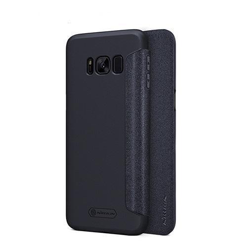 Чехол-книжка Nillkin Sparkle Series для Samsung Galaxy S8+ (SM-G955) пластик-полиуретан черныйдля Samsung<br>Чехол-книжка Nillkin Sparkle Series для Samsung Galaxy S8+ (SM-G955) пластик-полиуретан черный<br>