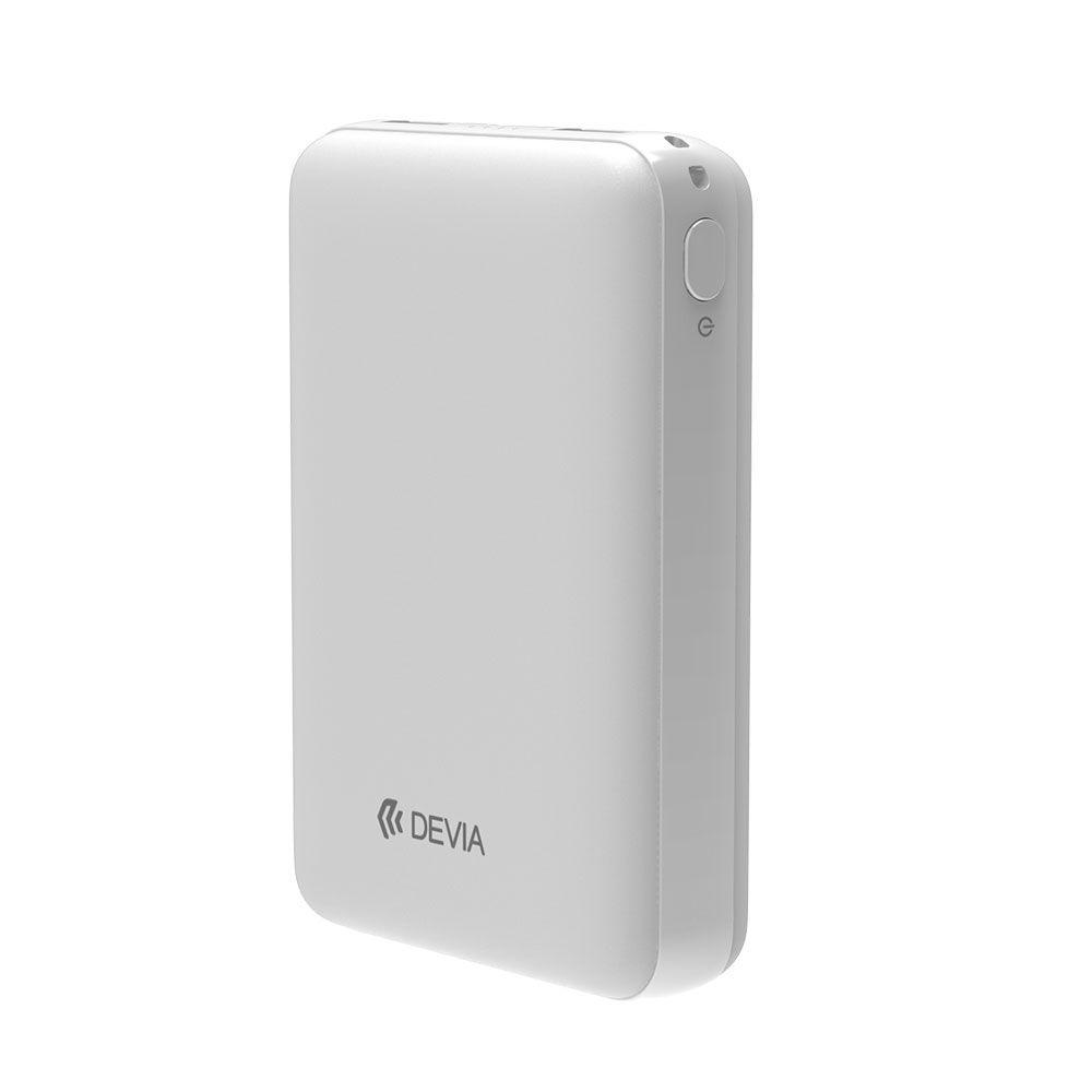 Универсальный внешний аккумулятор Devia Kintong Series Mini Wireless Power Bank 10000 mAh белый