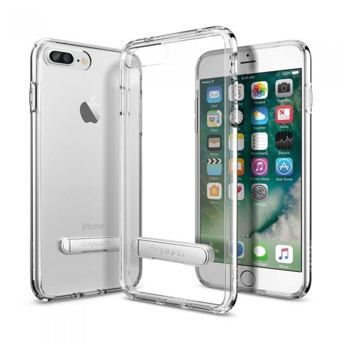 Чехол-накладка Spigen Ultra Hybrid S для Apple iPhone 7 Plus/8 Plus Crystal Clear (SGP 043CS20754)для iPhone 7 Plus/8 Plus<br>Чехол-накладка Spigen Ultra Hybrid S для Apple iPhone 7 Plus/8 Plus Crystal Clear (SGP 043CS20754)<br>