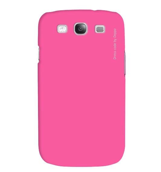 Купить Чехол-накладка Deppa Air Case для Samsung Galaxy S3 полиуретан+защитная пленка (розовый)