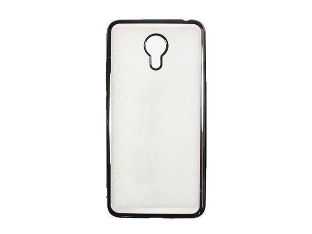 Чехол-накладка Jekod/KissWill для Meizu MX5 / MX5 Pro силиконовый (прозрачно-черный) фото