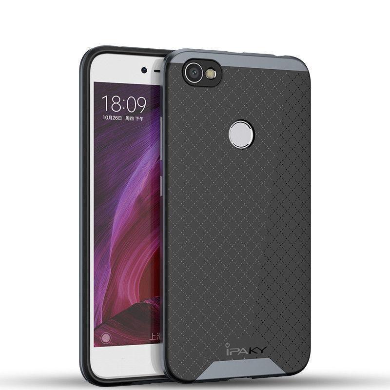 Купить Чехол-накладка iPaky для Xiaomi Mi Note 3 силиконовый со вставкой металлик (черный/серый)
