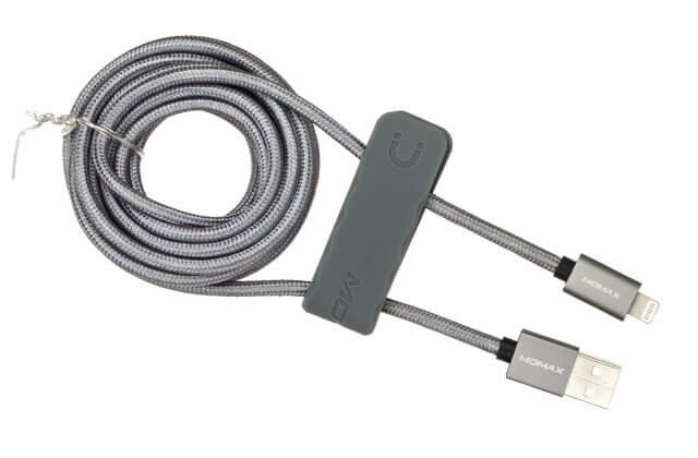 Кабель Momax Elite Link MFI (USB) на (Lightning) 300см Grey