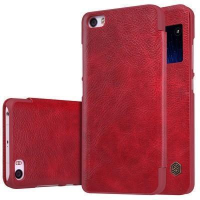 Чехол-книжка Nillkin QIN Leather Case для Xiaomi Mi5S натуральная кожа красныйдля Xiaomi<br>Чехол-книжка Nillkin QIN Leather Case для Xiaomi Mi5S натуральная кожа красный<br>