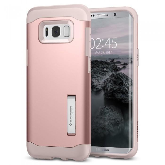 Чехол-накладка Spigen Slim Armor для Samsung Galaxy S8+ розовое золото (SGP 571CS21439)для Samsung<br>Чехол-накладка Spigen Slim Armor для Samsung Galaxy S8+ розовое золото (SGP 571CS21439)<br>