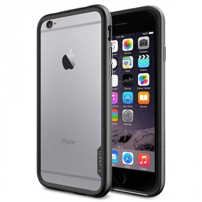 Чехол-бампер Spigen Neo Hybrid EX для Apple iPhone 6/6S Gunmetal (SGP11024)