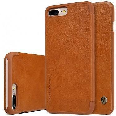 Чехол-книжка Nillkin QIN Leather Case для Apple iPhone 7 Plus натуральная кожа коричневый
