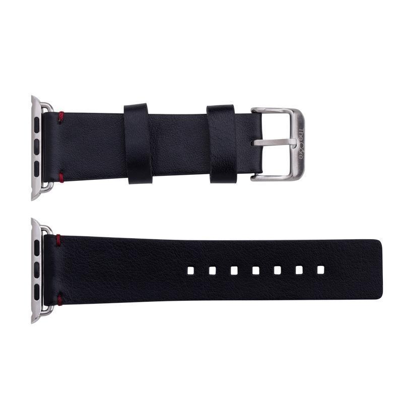 Ремешок кожаный The Core Leather Band для Apple Watch Series 1/2 38mm cowhide blackРемешки и браслеты для умных часов Apple<br>Ремешок кожаный The Core Leather Band для Apple Watch Series 1/2 38mm cowhide black<br>