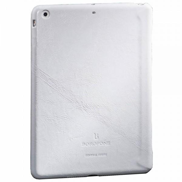 Чехол-книжка Borofone General Series для Apple iPad Air (натуральная кожа с подставкой) белыйдля Apple iPad Air<br>Чехол-книжка Borofone General Series для Apple iPad Air (натуральная кожа с подставкой) белый<br>