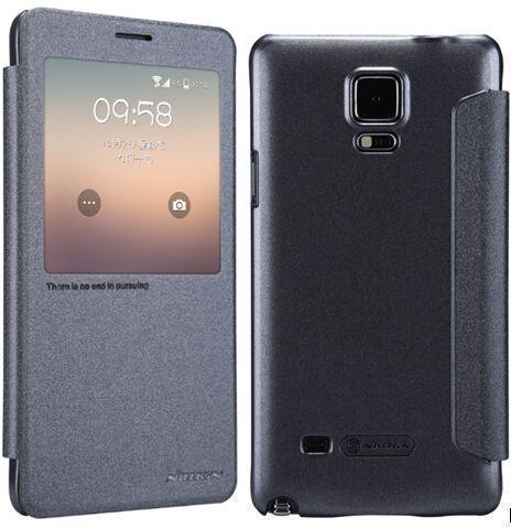 Чехол-книжка Nillkin Sparkle Series для Samsung Galaxy Note 4 (N910/N9100) пластик-полиуретан черныйдля Samsung<br>Чехол-книжка Nillkin Sparkle Series для Samsung Galaxy Note 4 (N910/N9100) пластик-полиуретан черный<br>