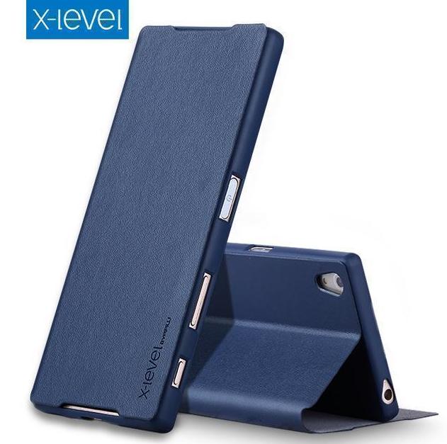 Купить Чехол-книжка Pipilu FIBcolor X-Level для Sony Xperia X искусственная кожа (синий)
