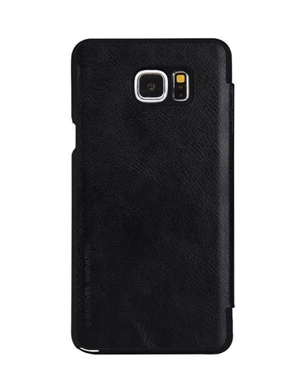 Чехол-книжка Nillkin QIN Leather Case для Samsung Galaxy Note 5 натуральная кожа черный