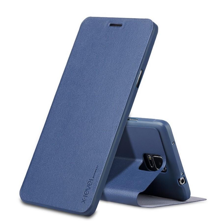 Купить Чехол-книжка Pipilu FIBcolor X-Level для Samsung Galaxy Note 3 искусственная кожа/силикон (синий)