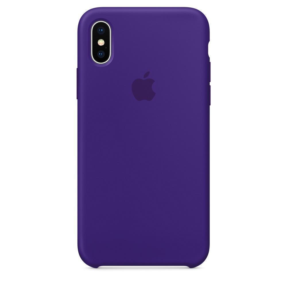 Купить Чехол-накладка Silicone Case Series для Apple iPhone XS Max (сиреневый)