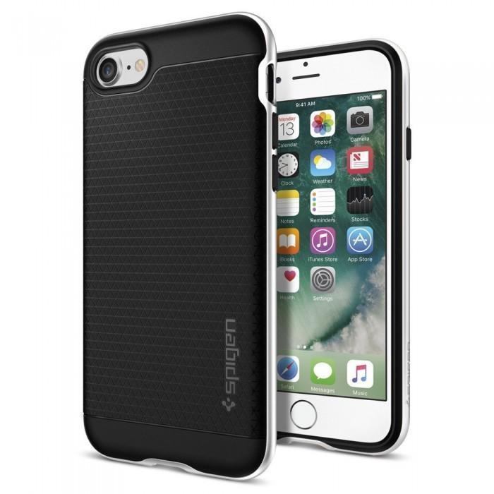 Чехол-накладка Spigen Neo Hybrid для Apple iPhone 7/8 пластик/силикон Satin Silver (SGP 042CS20520)для iPhone 7/8<br>Чехол-накладка Spigen Neo Hybrid для Apple iPhone 7/8 пластик/силикон Satin Silver (SGP 042CS20520)<br>