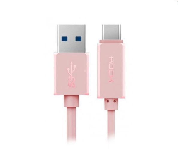 Кабель Rock Type-C/USB RCB0413 rose gold