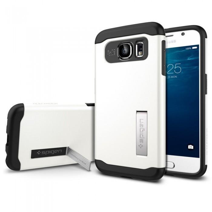 Купить Чехол-накладка Spigen SGP11326 Slim Armor для Samsung Galaxy S6 (Shimmery White)