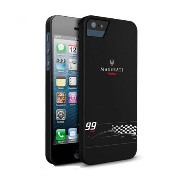 Чехол-накладка Maserati Trofeo MC26364 для Apple iPhone SE/5S/5 черный