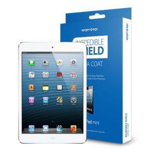Защитная пленка Spigen SGP10094 для Apple iPad mini /mini 2/mini 3 комплект передняя + задняя глянецдля Apple iPad mini 1/2/3<br>Защитная пленка Spigen SGP10094 для Apple iPad mini /mini 2/mini 3 комплект передняя + задняя глянец<br>