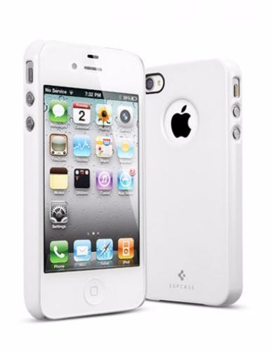 Чехол-накладка Spigen Ultra Thin Air SGP08384 для Apple iPhone 4/4S пластиковый белыйдля iPhone 4/4S<br>Чехол-накладка Spigen Ultra Thin Air SGP08384 для Apple iPhone 4/4S пластиковый белый<br>