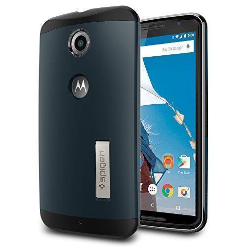 Чехол-накладка Spigen Slim  Armor (SGP11237) для Motorola Nexus 6 резина, пластик Синевато-серыйдля Motorola<br>Чехол-накладка Spigen Slim  Armor (SGP11237) для Motorola Nexus 6 резина, пластик Синевато-серый<br>