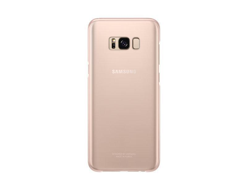 Чехол-накладка Samsung Clear Cover для Galaxy S8+ пластик прозрачно-розовый (EF-QG955CPEGRU)для Samsung<br>Чехол-накладка Samsung Clear Cover для Galaxy S8+ пластик прозрачно-розовый (EF-QG955CPEGRU)<br>