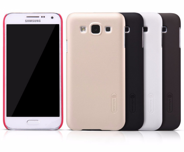 Чехол-накладка Nillkin Frosted Shield для Samsung Galaxy E5 (SM-E500) пластиковый чeрный