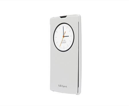 Чехол-книжка LG QuickCircle для LG Spirit H422 пластик полиуретан (white)