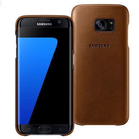 Чехол-накладка Samsung Leather Cover для Samsung Galaxy S7 Edge натуральная кожа коричневыйдля Samsung<br>Чехол-накладка Samsung Leather Cover для Samsung Galaxy S7 Edge натуральная кожа коричневый<br>