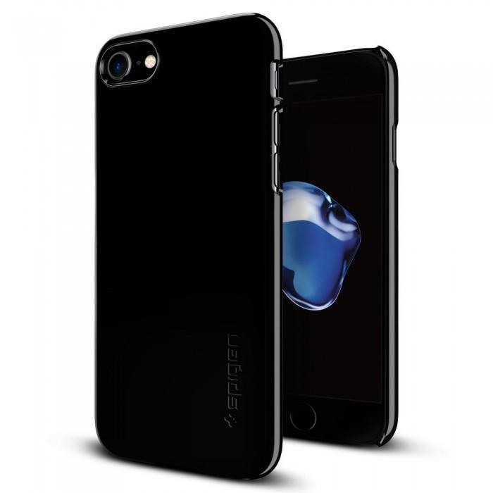 Чехол-накладка Spigen Thin Fit для Apple iPhone 7 Plus/8 Plus Jet Black (SGP 043CS20854)для iPhone 7 Plus/8 Plus<br>Чехол-накладка Spigen Thin Fit для Apple iPhone 7 Plus/8 Plus Jet Black (SGP 043CS20854)<br>