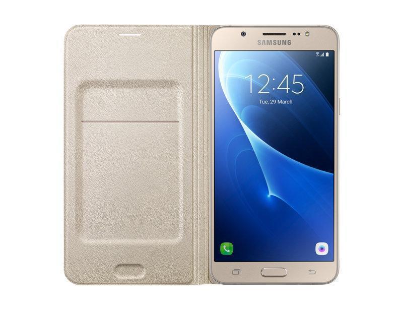 Чехол-книжка Samsung Flip Wallet для Galaxy J7 (2016) поликарбонат,полиуретан золотой EF-WJ710PFEGRUдля Samsung<br>Чехол-книжка Samsung Flip Wallet для Galaxy J7 (2016) поликарбонат,полиуретан золотой EF-WJ710PFEGRU<br>