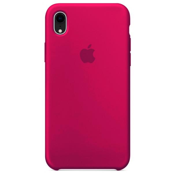 Купить Чехол-накладка Silicone Case для iPhone XR силиконовый (малиновый)