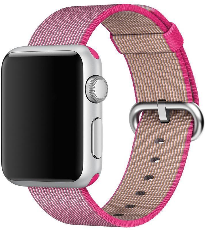 Фото #1: Ремешок Apple для Watch 38mm Woven Nylon (Pink) MM9P2ZM/A